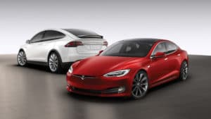 Tesla uncorking Tabelle für 75 kWh Akkus