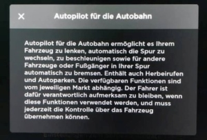 Tesla Autopilot für die Autobahn