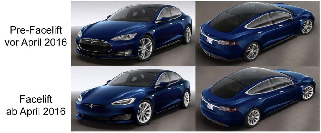 Tesla Facelift Unterschiede