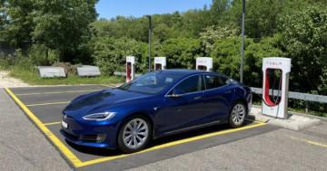 Tesla Supercharger Ladeleistung reduziert