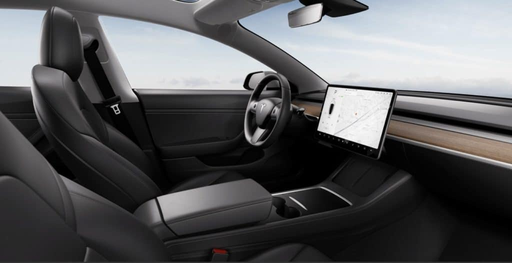 Tesla Model3 2021 Interior
