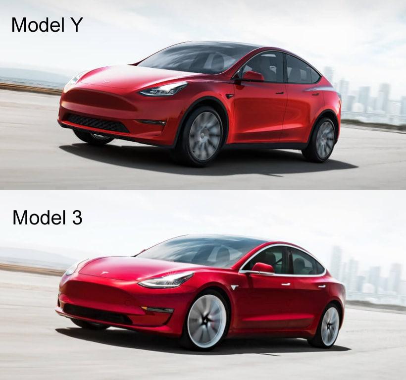 Tesla Model Y : Unterschiede zum Tesla Model 3