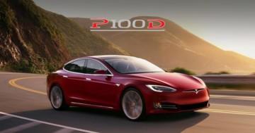 Red P100D Model S Tesla Ludicrous
