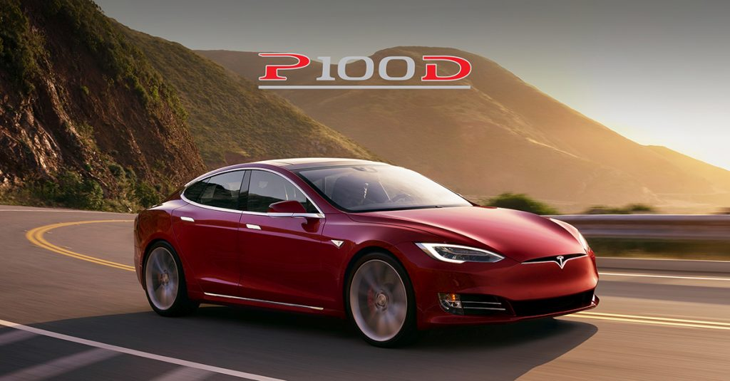 Red P100D Model S Tesla Ludicrous
