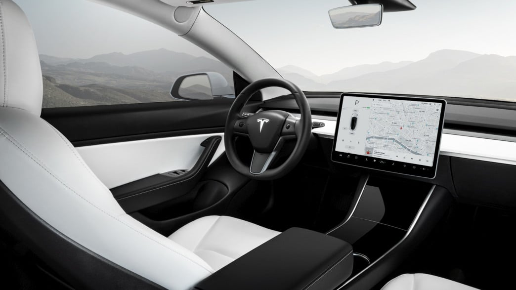 Tesla Model 3 Fahrzeugausstattung Übersicht