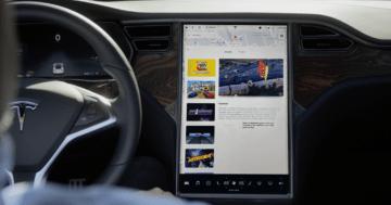 Tesla MCU gelber Rand