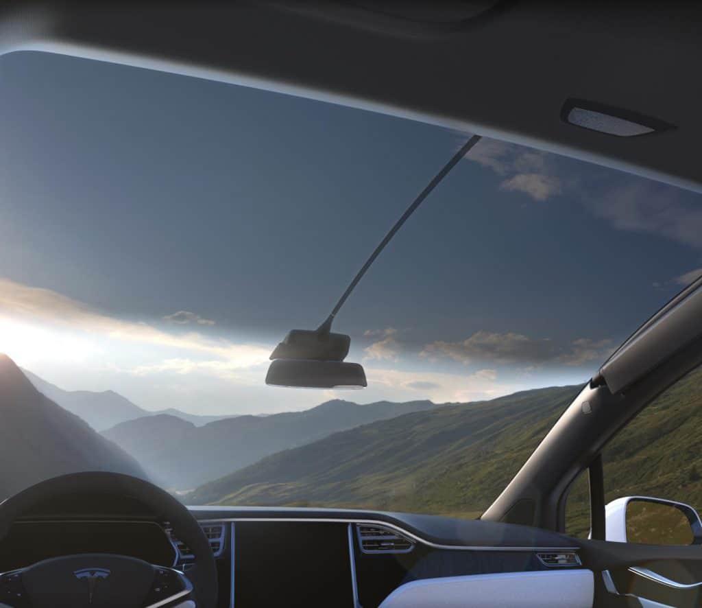 Tesla Model X Panorama Glas Dach