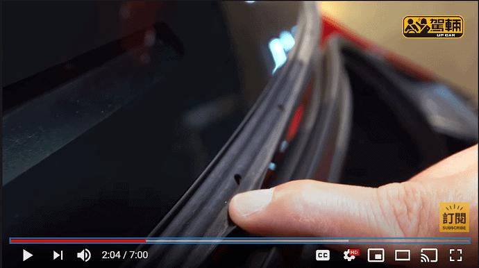 Tesla Model 3 Refresh Kofferraum Gummidichtung