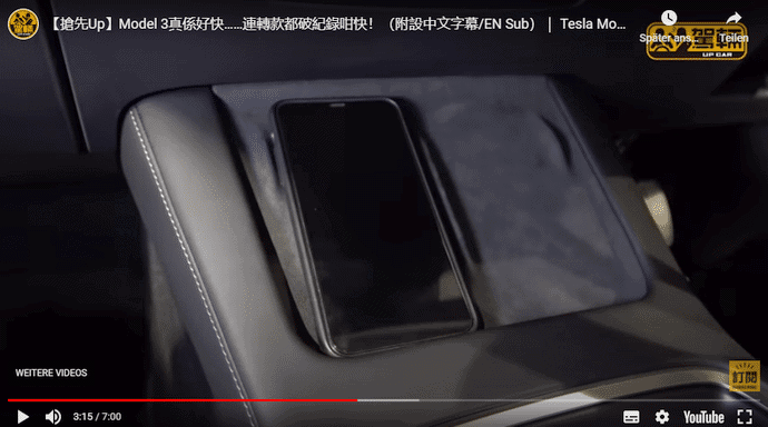 Tesla Model 3 Refresh Handy Ablage