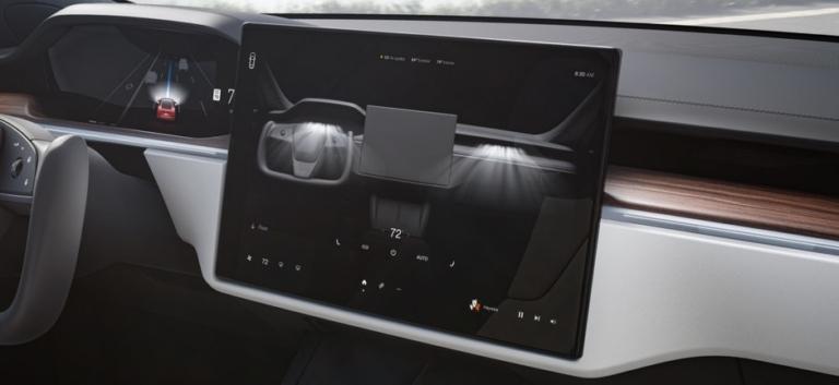 Tesla Model S 2021 Refresh Display Lüftung