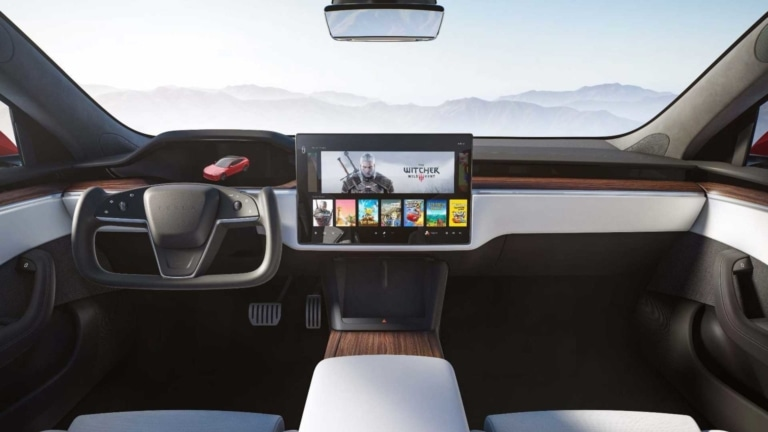 Tesla Model S 2021 Refresh 17-Zoll-Display