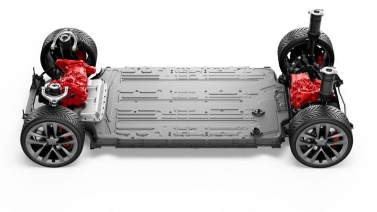 Tesla Model S Long Range Skateboard Dual Motor