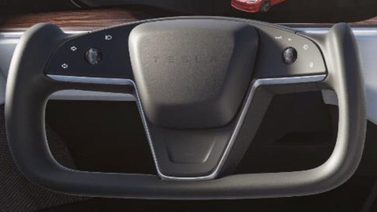 Tesla Model S 2021 Plaid Lenkrad Blinker Knöpfe