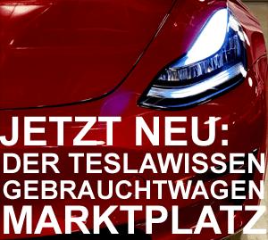 Tesla Gebrauchtwagen Marktplatz